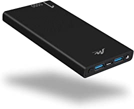 10000mAh Cell Phone External Battery Pack, Portable Phone Charger Power Bank 5V 2.1A Mobile Phone Charger Compatible with iPhone 6/6s/7/8/X/XS/XR iPad and Other Smart Devices, Black
