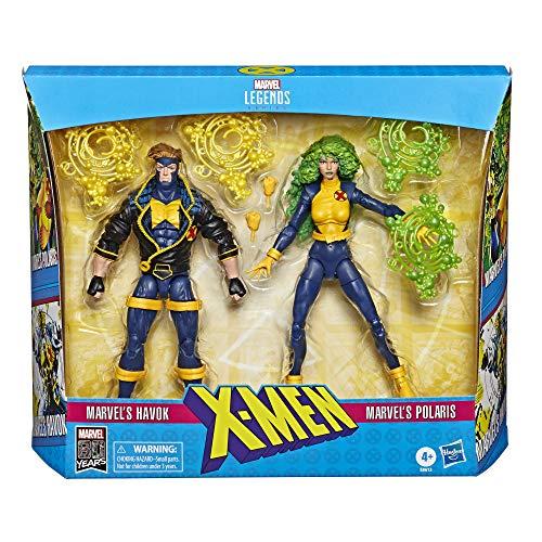 X Men Legends 90s Havok and Polaris 6-Inch Action Figures