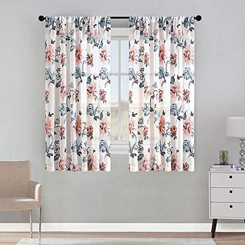Bumpy Road DIY Blumen Kurze Vorhänge für die Küche Voile Vorhänge für das Wohnzimmer Moderne Schlafzimmer Gardinen Fenster Screening Vorhänge Tür