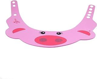 SUPVOXアジャスタブルベビーシャンプーシャワーバイザー入浴プロテクター帽子用幼児幼児子供(ピンク豚)