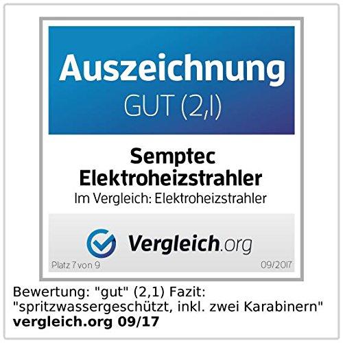 Semptec Heizpilz: IR-Außen-Heizstrahler für Deckenmontage IRW-2110, 2.100 Watt, IPX4 (Infrarot Heizer) - 5