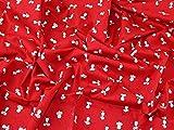 Baumwoll-Popeline-Kleiderstoff, Mäuse-Aufdruck, Meterware,