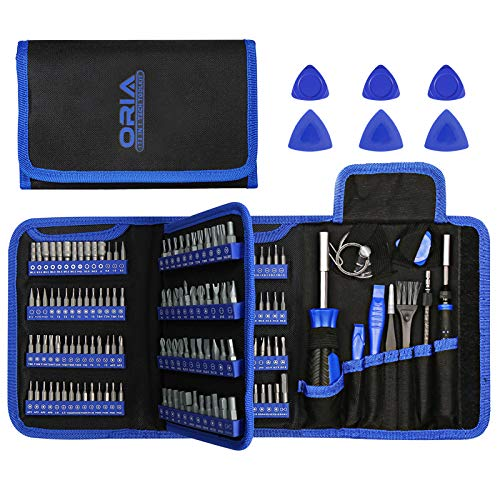 ORIA 2020 New Precision Screwdriver Kit, 172 in 1 Screwdriver Set with 112 PCS Bits and 44 PCS 1/4 Screwdriver Bits, Magnetic Driver Kit for Mobile Phone, Smartphone, Game Console, Tablet, PC