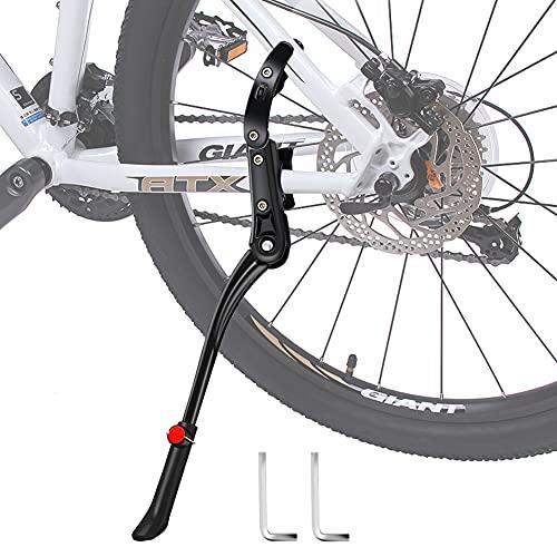 Fahrradständer, DIAOCARE Seitenständer Fahrrad Höhenverstellbar Universal Aluminiumlegierung Fahrrad Ständer für 24-29 Zoll Mountainbike, Rennrad, Fahrräder und Klapprad, mit Rutschfester Gummiständer