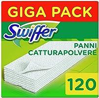 Swiffer Panni di Ricambio per Scopa, Maxi Formato da 120 Panni, Cattura e Intrappola 3 Volte Più Polvere, Sporco e Peli...