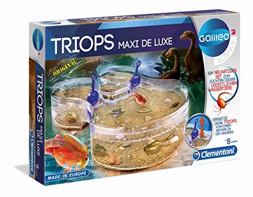 Clementoni 69883 Galileo Science – Original Triops Maxi de Luxe, Züchten & Beobachten von Urzeitkrebsen, Spielzeug für Kinder ab 8 Jahren, Biologie zum Anfassen, für kleine Forscher