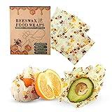 Emballage Réutilisable à La Cire d'abeille, Paquet De 3 Emballages...