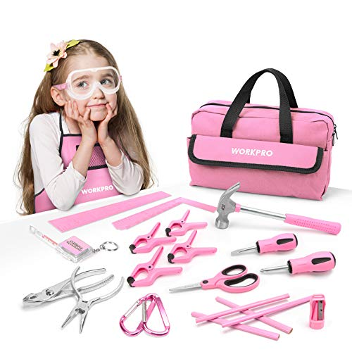 WORKPRO 23-piece Girls Tool Kit with...