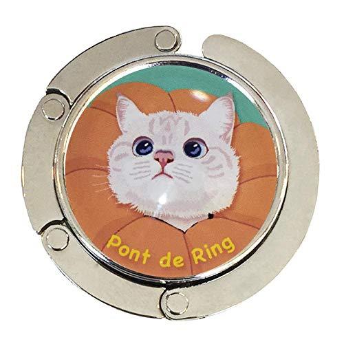 バッグハンガー ポンデリング BL バッグフック バッグ掛け 猫 バッグハンガー