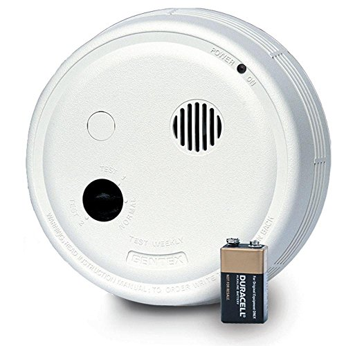 Gentex 9223F Smoke Alarm, 220V Hardwired Interconnectable Photoelectric w/9V Battery Backup, T3 Horn & A/C Contacts (917-0035-002)