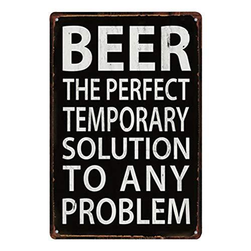 Haodou Vintage Bebida Fría Cerveza Coche Placa de Metal Marca Vino Licor Estaño Signos Bar Pub Garaje Pared Arte Decorativo Pintura