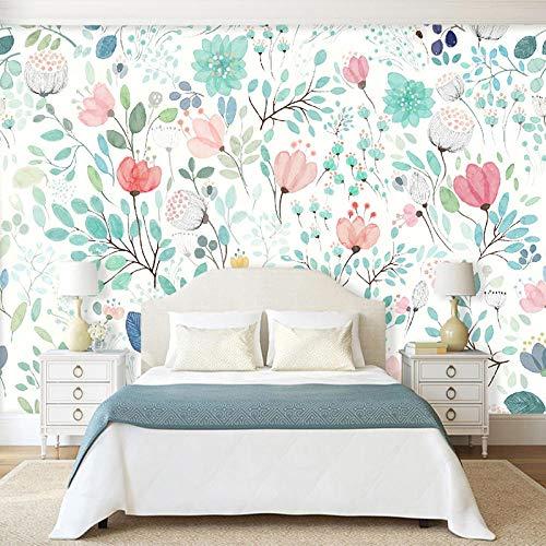 3D Fotomurales Flores Frescas Salón Dormitorio Despacho Pasillo Decoración Murales Decoración De Paredes Moderna 450X300cm