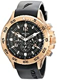 Nautica Men's N18523G NST Black/Rose Gold-Tone Stainless Steel Dress Watch, Black