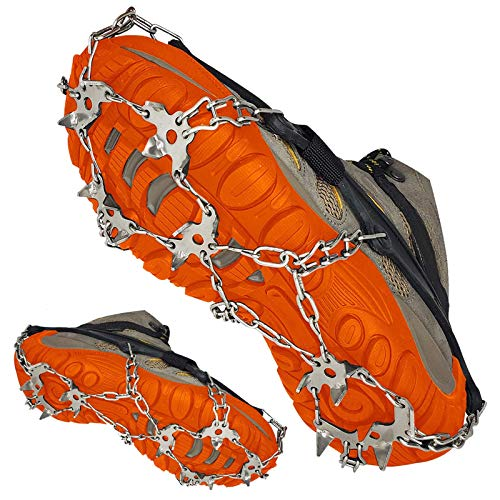 ELIX Walk Traction Ice Cleat AllSurface Spikes Crampons Spikes Footwear Traction for Shoes and Hiking Boots for Men and Women NonSlip Spikes for Walking on Snow and Ice