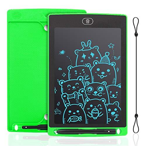 IDEASY Tableta de Escritura LCD de 12 Pulgadas, Tableta de Dibujo de un Solo Color, Tablero de Escritura LCD Electrónico para Niños, Escuela, el Hogar y la Oficina (Verde)