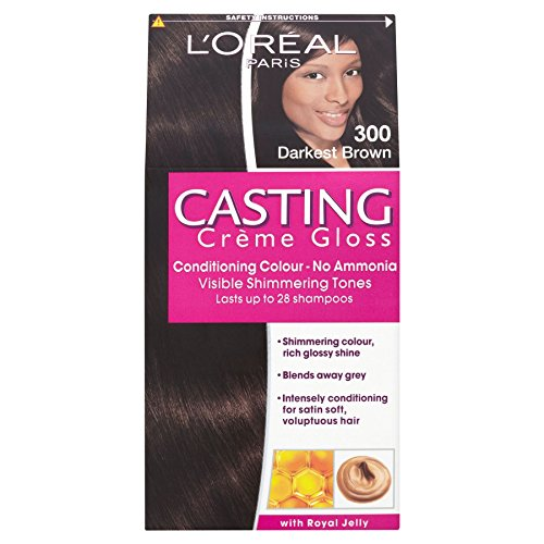 3 x L'Oreal Paris Casting Creme Gloss Conditioning Colour 300 Darkest Brown