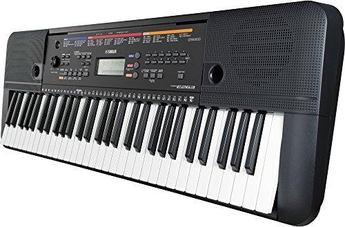 Yamaha Digital Keyboard PSR-E263, Tastiera Digitale Ottima per Principianti, Design Compatto Portatile, con 61 Tasti e Funzioni di Apprendimento, Nero