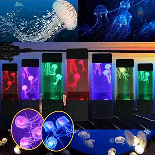 Mini Quallen Lampe LED Stimmung,LED Quallen Aquarium Beleuchtung Fisch,Nacht Lampe Magische Lampe für Geschenk