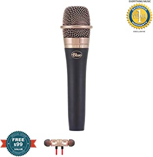 Blue enCORE 200 Active Dynamic Handheld Vocal Microphone Black includes Free Wireless Earbuds - Stereo Bluetooth In-ear and 1 Year Everything Music Extended Warranty