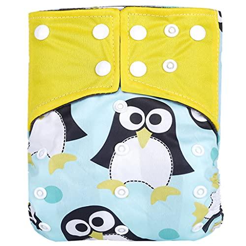YOURPAI Baby-Windel, wiederverwendbar, Taschenwindeln, waschbar, Bambuskohle, verstellbare Stoffwindel 1#