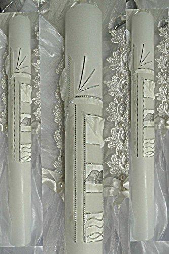 Bougie de bapt/ême Cierge 400//50/mm T 717/avec /étiquette