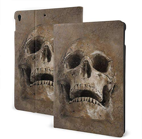 Repeating Geometric Blue Design Seamless Case for IPad Air 3rd Gen 10.5' 2019 / IPad Pro 10.5' 2017 Multi-Angle Folio Stand Auto Sleep/Wake for IPad 10.5 Inch Tablet-Retro Texture Skull-One Size