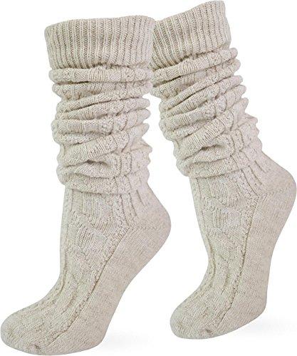 normani Original Trachtensocken Trachten Strümpfe Socken Natur Farbe Beige lang Größe 43/46