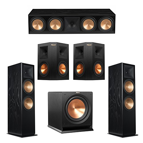 Read About Klipsch 5.1 Black Ash System with 2 RF-7 III Floorstanding Speakers, 1 RC-64 III Center Speaker, 2 Klipsch RP-250S Surround Speakers, 1 Klipsch R-112SW Subwoofer