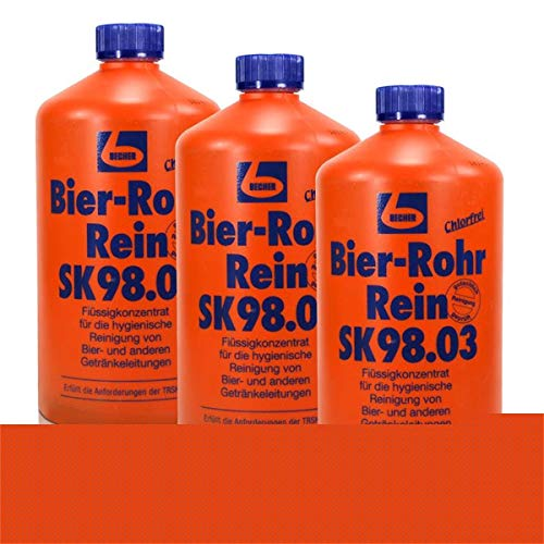 3x Dr. Becher Bier-Rohr Rein SK98.03/1 Liter