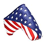 GOOACTION Golf Club Blade Putter Cover USA Magnetic Closure Design American Flag Stars and Stripes Pattern Patriotic Putter Headcover