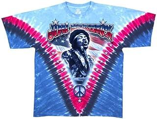Liquid Blue Men's Jimi Hendrix Jimi Flag Short Sleeve T-Shirt