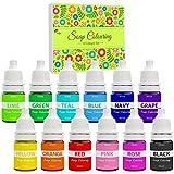 Colorante Jabón - 12 Colores Colorante de Bomba de Baño Líquido para Fabricación de Jabón, Limo...