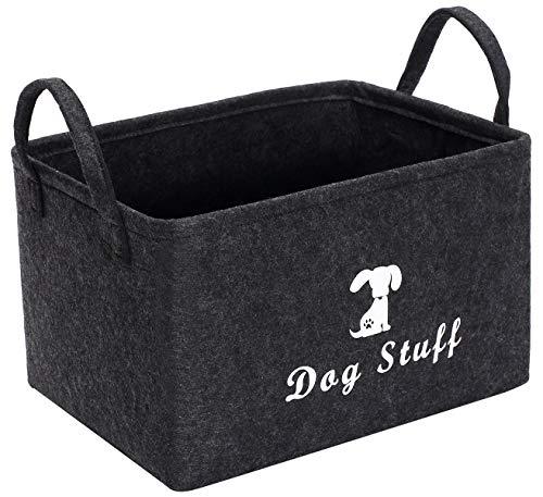 Morezi Aufbewahrungskorb für Haustier-Spielzeug und Zubehör, ideal zum Organisieren von Spielzeug, Decken, Leinen und Futter
