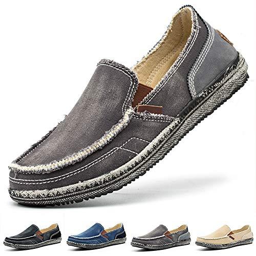 Homme Chaussures en Toile Bateau Espadrilles Flâneurs...