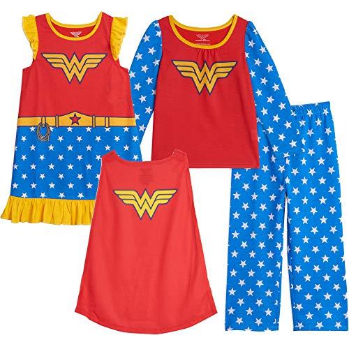 DC Comics Justice League Wonder Woman Toddler Girls Pajama Shirt Pants Nightgown Set 3T
