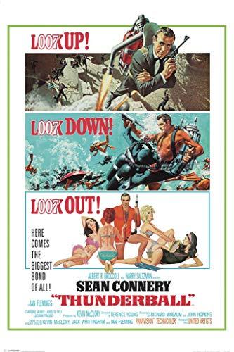 Pyramid America Laminato James Bond Thunderball ritratto Movie Sign poster 30,5x 45,7cm