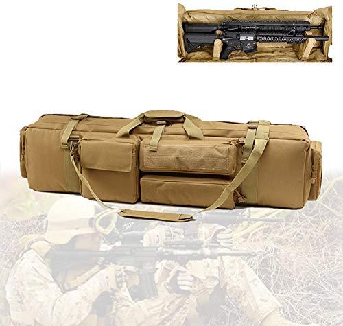WSVULLD Bolsa De Arma De Rifle Larga Doble, Bolsa De Caza Táctica con Material De Nailon, Base Fija, Gran Capacidad, Funda De Airsoft para Escalada, Pesca, Camping, Caza