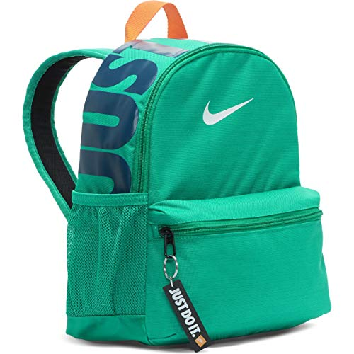 Nike Kids' Brasilia Just Do It Mini Backpack, Cool Grey/Black/Racer Pink, One Size