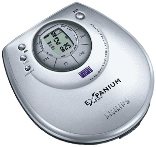Philips eXpanium EXP 203 tragbarer MP3-CD-Player silber