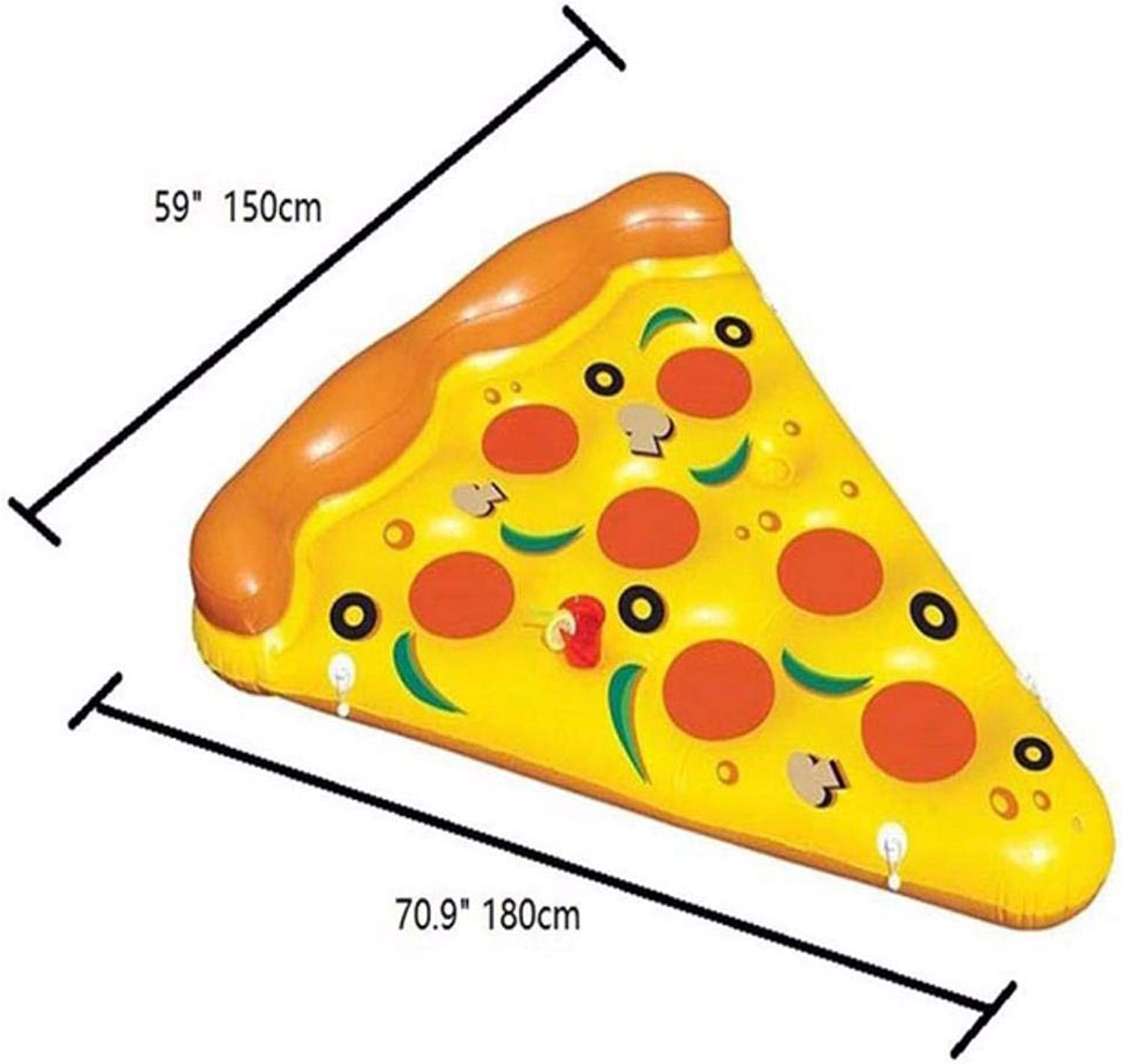 OGAWOO Inflatable Swimming Float Pizza Pool Floats Raft Beach Swimming Ring Water Fun Floating Toys Air Mattresses,Pizza floating row