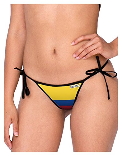 TOOLOUD Colombia Flag AOP Swimsuit Bikini Bottom S All Over Print White-Black