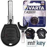 Carcasa de repuesto para llave de coche con 2 botones + HAA / HU66 + batería compatible con VW Lupo Fox Sharan T4 Seat Arosa Ibiza Leon Alhambra