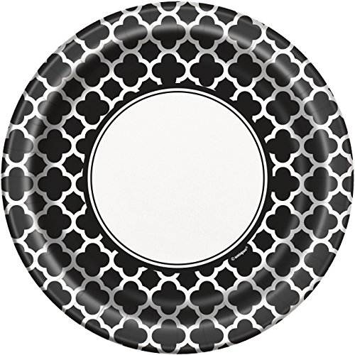 Una de las partes 23 cm platos partes Quadrifoglio (8, paquete de Nero)