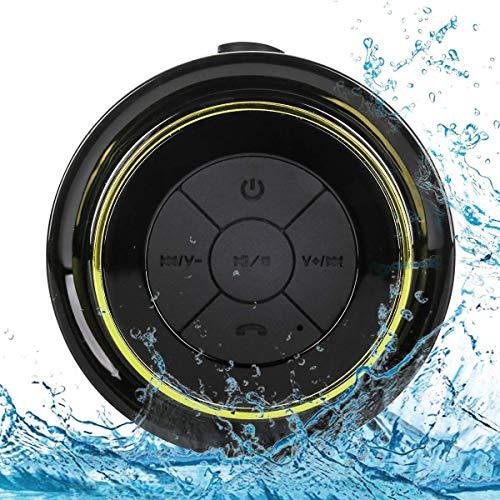 Altavoz Bluetooth Ducha Impermeable, Waterproof Bluetooth Speaker with FM Radio, Copa de succión dedicada, Mic incorporado, Hands-Free Speakerphone Para HuaWei, Samsung, Nexus, HTC, iPhone y iPad