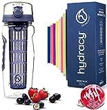 Hydracy Trinkflasche für Fruchtschorlen 1L -Sport Wasserflasche Bpa Frei mit