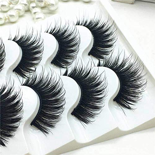 5 Pairs 3D Mink False Eyelashes Wispy Cross Long Thick Soft Fake Eye Lashes Eye Makeup Beauty Extension Tools