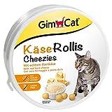 GimCat Rollis al formaggio - Snack per gatti senza cereali e ricco di vitamine, con formaggio a pasta dura genuino - 1 X 50 gr