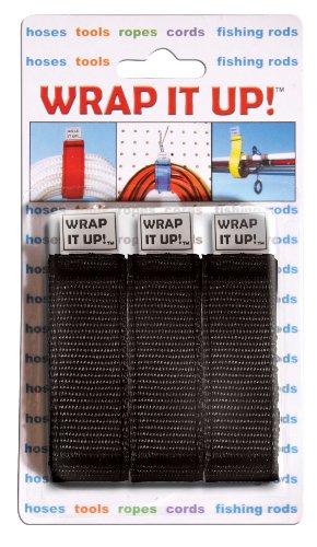 WRAP IT UP,  3 pk., Black Dock Edge Line Holder