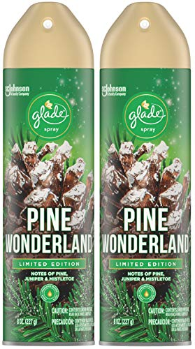 Glade Air Freshener Spray - Pine Wonderland - Holiday Collection 2020 - Net Wt. 8 OZ Per Can - Pack of 2 Cans
