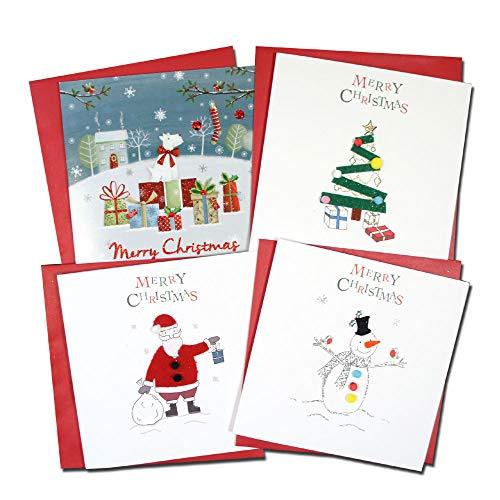 クリスマスカード 「ホワイト クリスマス II」 08 四点セット B
